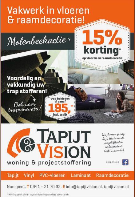 Tapijtvision korting Molenbeek Nunspeet