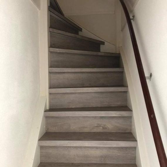 PVC vloer trap overloop
